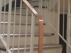 Copper Handrails by Artistry